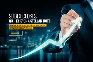 Subex Closes Q3 – FY17