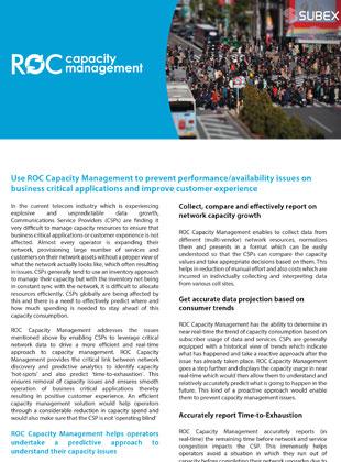 ROC-Capacity-Management